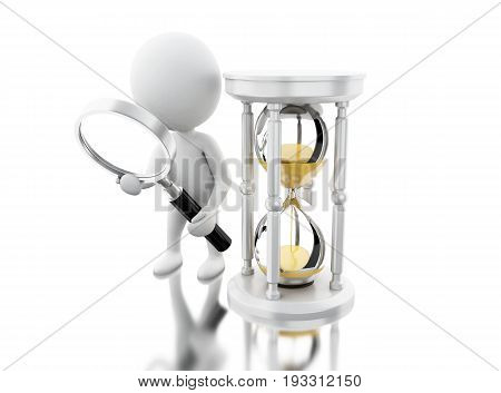 3D White People Looking An Hourglass