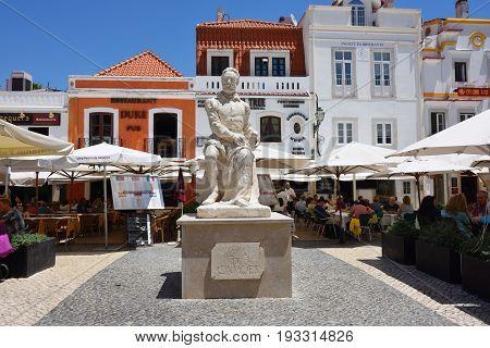 Luis Vaz De Camoens  Statue In Cascais, Portugal
