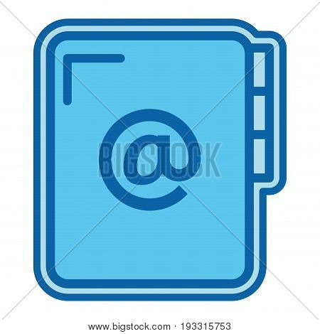 folder document with arroba symbol vector illustration design