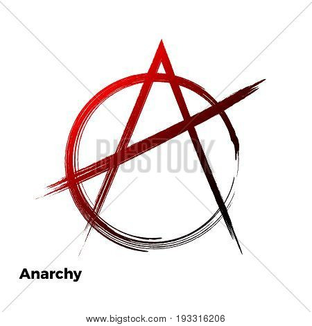 Anarchy grunge symbol vector  a letter  icon