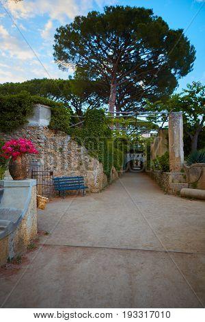 Villa Cimbrone in Ravello Amalfi Coast Italy.