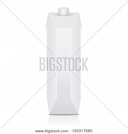 Carton pack mock up for juice, milk. Vector package template for your design
