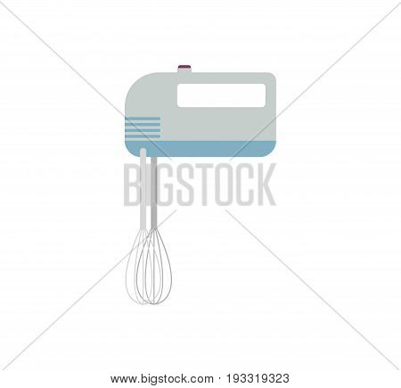 Mixer Kitchen Utensils Isolated. Device For Cream Churning