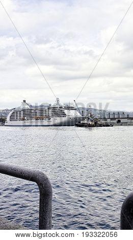 Cruise Ship In The Gulf Of La Spezia