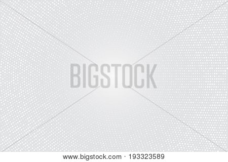 Vector geometric background. Fading dots massif. Numerous little circles illustration on light backdrop