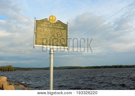 Grand Isle on Lake Champlain, Vermont, USA.