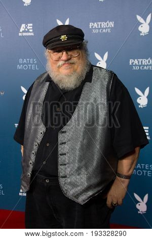 San Diego, CA - July 26, 2014:  George R. R. Martin of the HBO's Game of Thrones arrives at A&E / Playboy event at Comic Con 2014 in San Diego, CA.