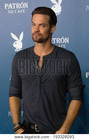 San Diego, CA - July 26, 2014: Shane West of the The CW's Nikita arrives at A&E / Playboy event at Comic Con 2014 in San Diego, CA.