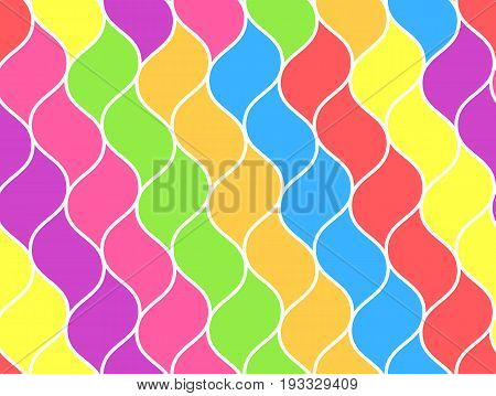Bright rainbow colored abstract net chain pattern. Vector fashion sunbow grid texture for textile backgrounds wallpapers wrapping paper covers banners