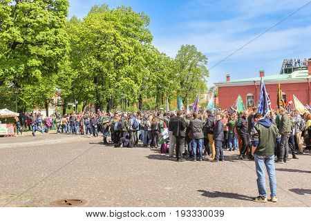 St. Petersburg Russia - 28 May, Student detachments in the Peter and Paul Fortress, 28 May, 2017. Famous sightseeing places of St. Petersburg for tourists.