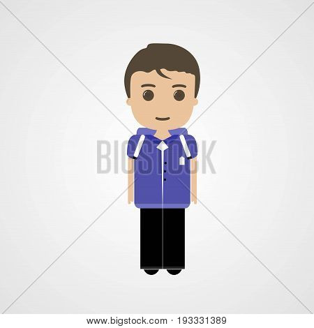 Happy Schoolboy Character Vector Illustration Eps File