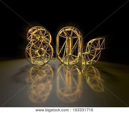 3D illustration - Golden
