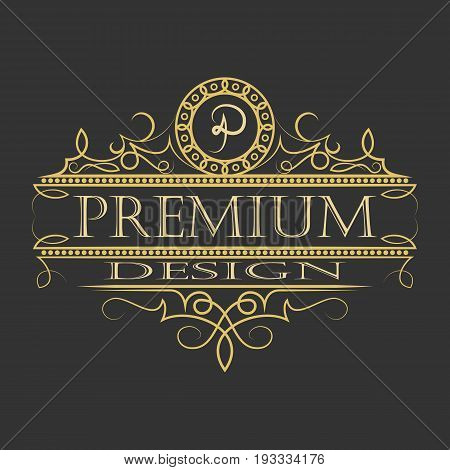 luxury ornament floral design logo, decorative template, heraldic, business, decorative ornament fashion sign. illustration