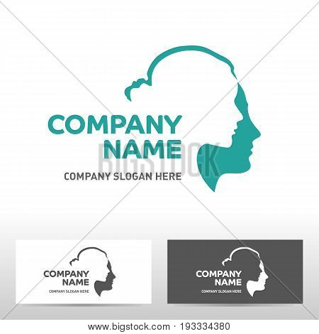 Public Association logo design with human profile. Vector illustration