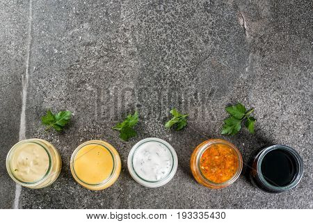 Set Of Dressings For Salad