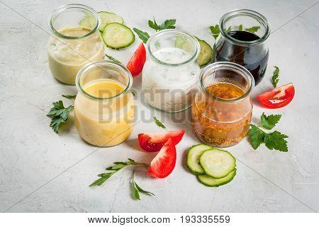 Set Of Dressings For Salad