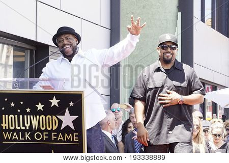 LOS ANGELES - JUN 12: William Loshawn Calhoun Jr aka WC, Ice Cube at a ceremony as Ice Cube is honored with a star on the Hollywood Walk of Fame on June 12, 2017 in Los Angeles, CA