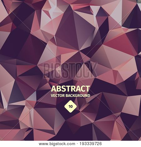 Triangle abstract background, shiny metal design, effective chrome-polishing material, crumpled foil, reflection of geometric elememts. Vector illustration