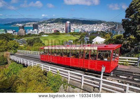 Cable Car to Botancial Garden in Wellington New Zealand