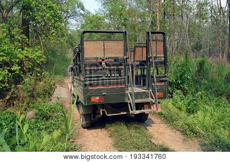 Jeep Safari - excursion in the Chitwan National Park, Nepal