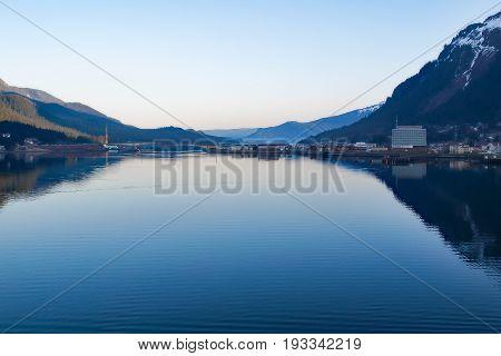 Calm morning sea at Alaska's Inside Passage