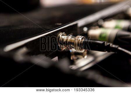 Recording Studio Equipment. Professional Audio Mixing Console