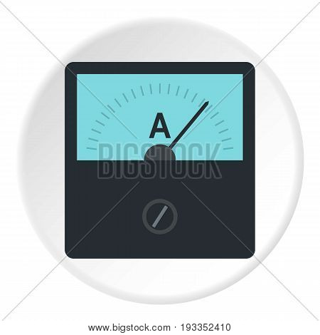 Gauge element icon in flat circle isolated on white vector illustration for web