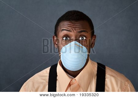 Young Man With Surgical Mask