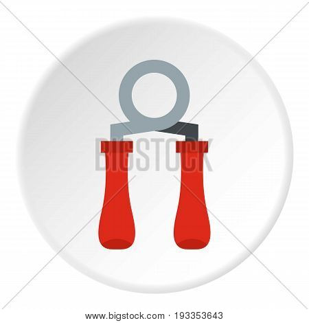 Skipping rope icon in flat circle isolated on white vector illustration for web