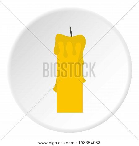 Memorial candle icon in flat circle isolated on white vector illustration for web
