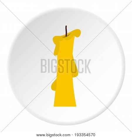 Church candle con. Flat illustration of church candle vector icon in flat circle isolated on white vector illustration for web