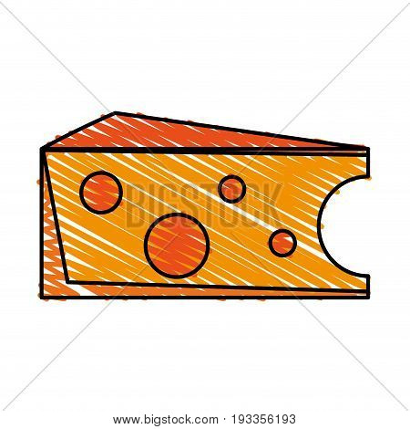 Salted cheese food doodle vector illustration design graphic