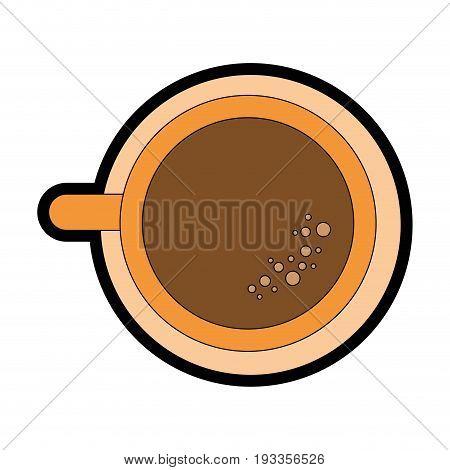 Delicious cup of coffee icon vector illustration graphic design
