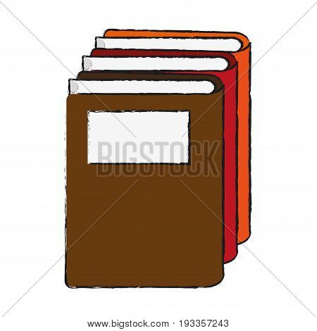 Reading book separator draw vector illustration design graphic
