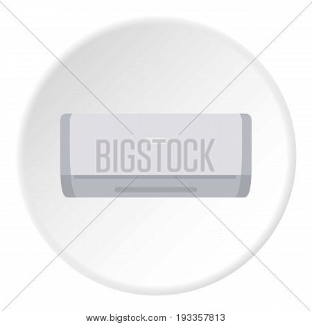 Ceramic heater icon in flat circle isolated on white vector illustration for web