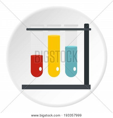 Medical microscope icon in flat circle isolated on white vector illustration for web