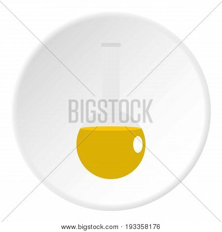 Glass pitcher of water icon in flat circle isolated on white vector illustration for web