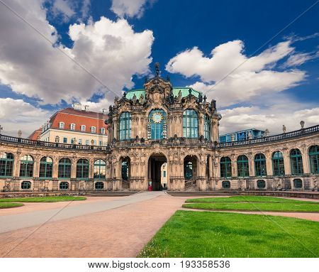 Morning In Famous Zwinger Palace (der Dresdner Zwinger) Art Gallery Of Dresden.
