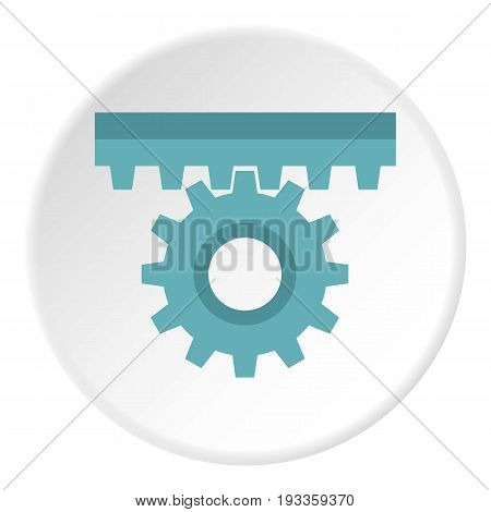 Valve icon in flat circle isolated on white vector illustration for web