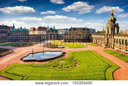 View From Bierd's Eye Of Famous Zwinger Palace (der Dresdner Zwinger) Art Gallery Of Dresden.