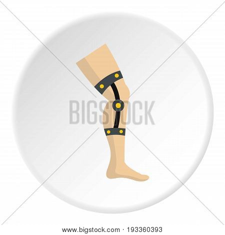Retentive bandage icon in flat circle isolated on white background vector illustration for web