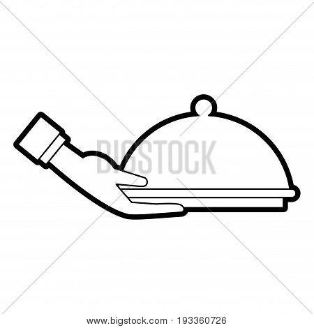 Fine chef restaurant food paint vector illustration design graphic