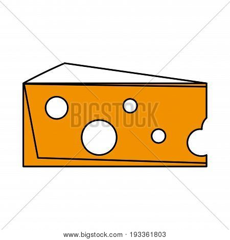Salted cheese food paint vector illustration design graphic