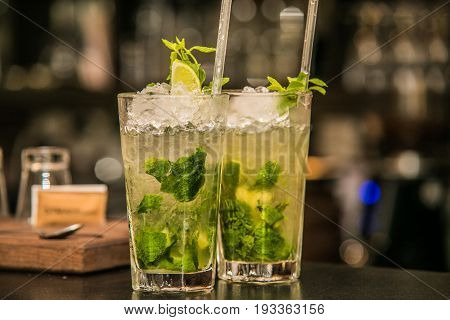 Refreshing ice drink prepared from fresh fruit.