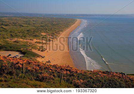 Saunton Sands North Devon coast near Croyde England UK in summer