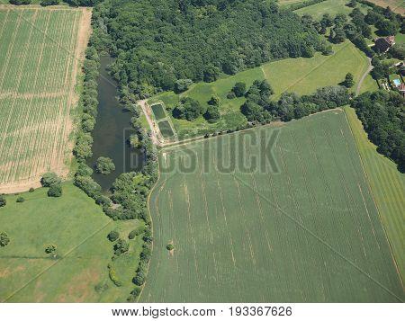 Aerial View Of Great Hallingbury, Uk