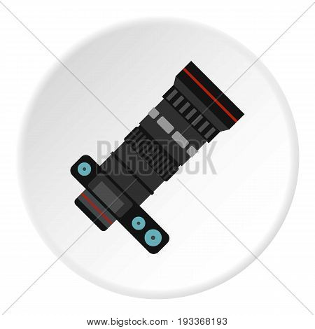Professional objective icon in flat circle isolated on white background vector illustration for web
