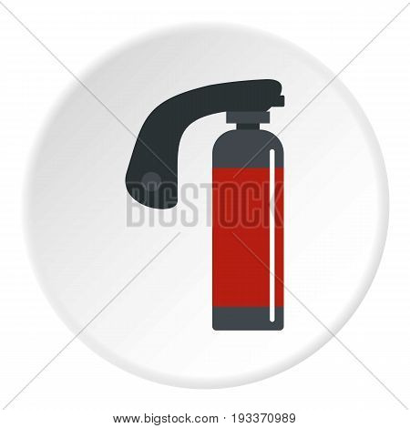 Gas cylinder icon in flat circle isolated on white background vector illustration for web