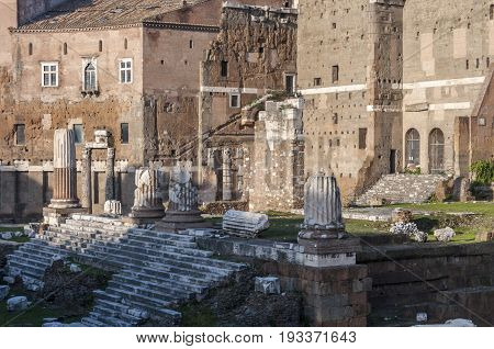 Temple of Mars Ultor in the Forum of Augustus, Rome, Italy