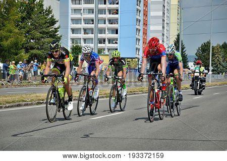 ZIAR NAD HRONOM, SLOVAKIA - JUNE 26, 2017: The Slovak and Czech National road cycling championship.